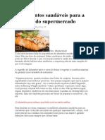 27 alimentos saudáveis para a sua lista do supermercado