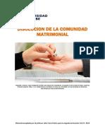 Unidad 4. Recurso 1. Lectura. Disolución de la Comunidad Matrimonial. 2018.pdf