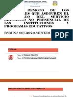 PPT - TRABAJO0 REMOTO DE DOCENTES - RVM 097-2020.
