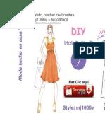 Coqueto vestido bustier de tirantas realzadas mj1006v