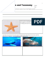 Taxonomy and Classification Homework / Exam / and 2076+ Slide Powerpoint Presentation