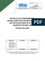 Protocolo de Acompanamiento y Rehabilitacion de Iam y Ave Sj