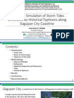 Numerical Simulation of Storm Tides Generated by Historical Typhoons along Dagupan City Coastline