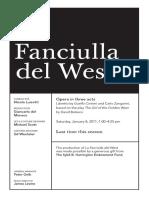 Playbill Jan 8 Fanciulla
