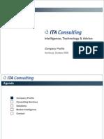 ITA Consulting Company Profile 2008 Aktuell