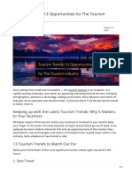 revfine.com-Tourism Trends 13 Opportunities for The Tourism Industry