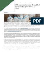 2016-01-27 - Nueva norma ISO acelera el control de calidad y facilita el comercio de los probiticos y cultivos iniciadores