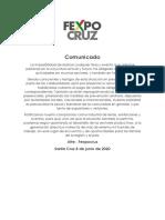 Comunicado Fexpocruz