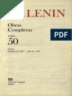 Lenin Tomo 50 ( Octubre de 1917- Julio de 1919)