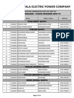 AM JUNIOR ENGINEER - SELECTED CANDIDATES