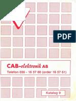 CAB Elektronik Katalog Nr 9