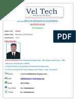 ME8694- Hydraulics and Pneumatics Question Bank