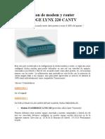 Modem ADSL Lynx 220