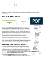 Degassing spray technology Sulfur Recovery - MDR