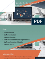 Numérisation,digitalisation et la transformation digitale