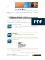Module 3 Lecture Notes