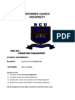 MBA 501 Marketing Management  Student Assignment  Questions RCU (1) (1)