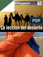 FJPALDURÁN - LA LECCIÓN DEL DESIERTO.