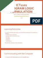 Topic 3 - Problem Solving Organization