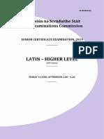 latin junior cert - exam notes