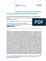 Enhancing Students' Learning about Healthy Living through Community Participation