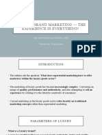 Luxury brand marketing — The experience is everything