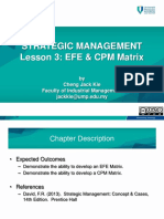 Lesson 3 - EFE  CPM Matrix