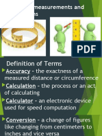 Carry out measurements and calculations