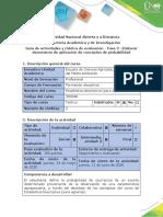 Guía de actividades y rúbrica de evaluación - Fase 3 - Elaborar documento de aplicación de conceptos de probabilidad