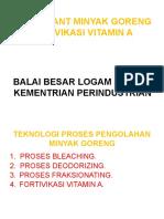 PILOT PLANT MINYAK GORENG FORTIVIKASI VITAMIN A