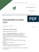 PROGRAMME DU SABEL 2018 _ SABEL Burkina