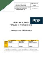 IT-PO-SGI-011-11 Traslado_Tuberías_HDPE Rev.2
