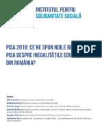 RAPORT Ce Ne Spun Rezultatele PISA Despre Inegalități