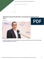Victor Ponta anunță că Pro România va vota împotriva prelungirii stării de alertă