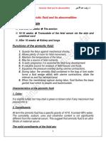 Amniotic Fluid and it's abnormalities .pdf