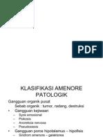 klasifikasi amenore patologi