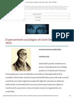 El pensamiento sociológico de Saint Simon (1760 – 1825) - PRAGMA.pdf