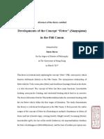 Developments of the Concept 'Fetter' (Saṃyojana)