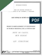 NOTE DE CALCUL Mur Rideau CNSS EL KEF..pdf
