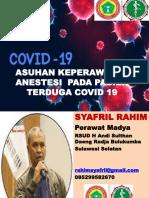 ASUHAN KEPERAWATAN ANASTESI COVID 19