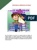 PROGRAMACIÓN PARA EL MIÉRCOLES DE CENIZA 2