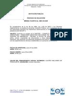 Ejemplo Invitación Pública SMC-09-2020