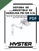 SISTEMA DE COMBUSTIBLE DE GASOLINA PSI GM 4.3L