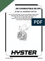 SISTEMA DE COMBUSTIBLE DEL GPL (Motor GM 4.3L Equipo con PSI)