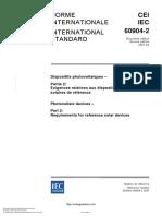 IEC 60904-2-2007