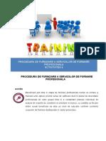 Procedura formare profesionala