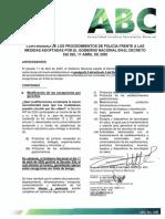 ABC No. 006 CONTINUIDAD DE LOS PROCEDIMIENTOS DE POLICIA FRENTE A LAS MEDIDAS EN EL DECRETO 536 DEL 11-04-2020 (1)