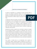 IMPORTANCIA DE LA HISTORIA DE GUATEMALA