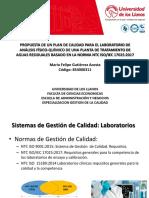 modelo PLAN DE CALIDAD PARA EL LABORATORIO DE ANALISIS FISICOQUÍMICO DE UNA PTAR CON BASE EN LA NTC ISO IEC 17025.2017.pdf