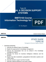 Topic 05 - Managerial & Decision Support Systems